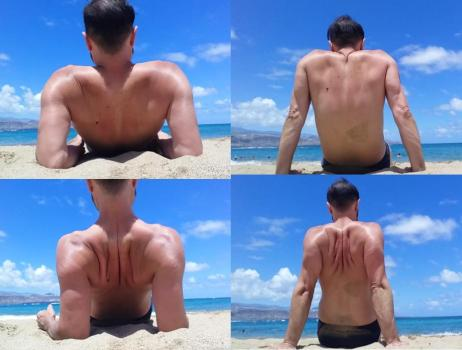 Foto que muestra una forma de apoyarnos que mejore nuestra movilidad del hombro.