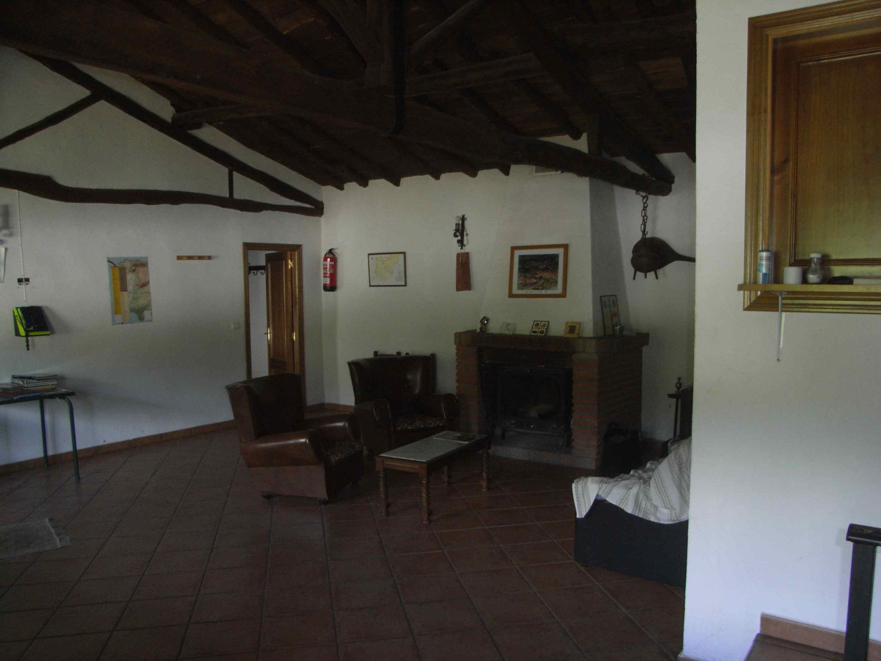 Interior del albergue