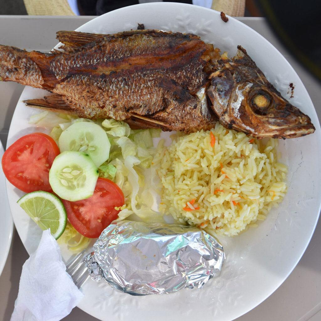 Pescado frito: Una delicia!
