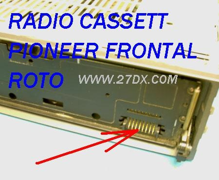 radio cassett pioneer flexible roto en el frontal
