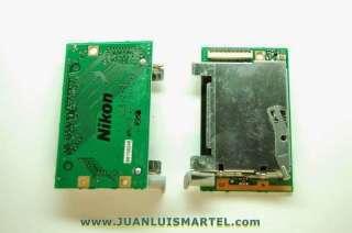 reparación cámaras digitales lector de memorias compact flash CF nikon