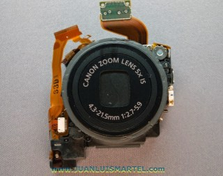 reparación cámaras digitales lente canon