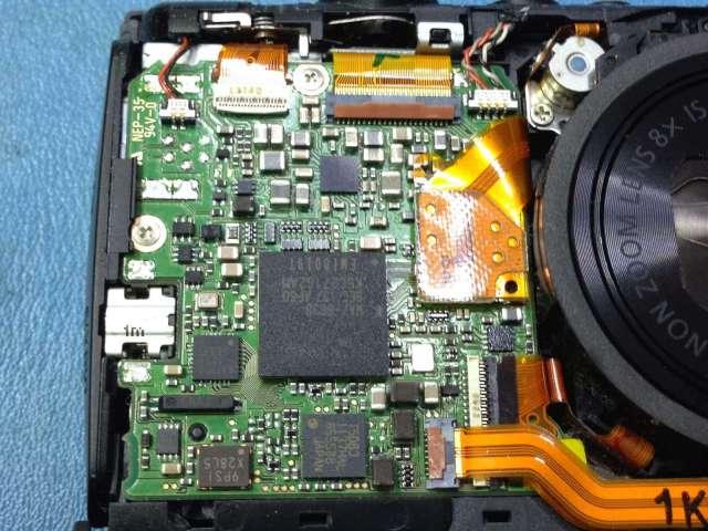 reparar camara canon circuito interno
