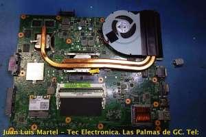 Reparación de entrada de corriente conector DC en ordenadores portátiles .