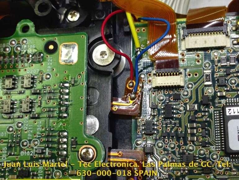 Conexiones eléctricas del CCD