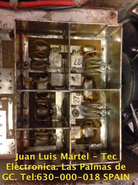 Reparación de filtro pasabandas de RF de emisora de FM