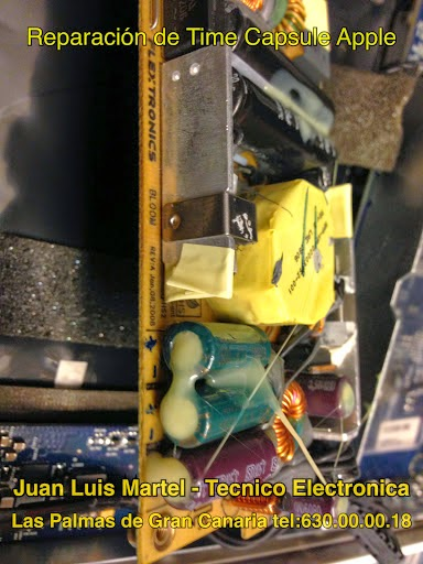 Reparar apple en Las Palmas de Gran Canaria - Reparacion de fuente de alimentación de Time capsule , condensadores ya instalados