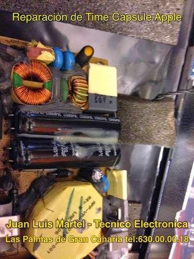 Reparación de Time Capsule en Las Palmas de Gran Canaria- Fuente de alimentación con condensadores de entrada ya instalados
