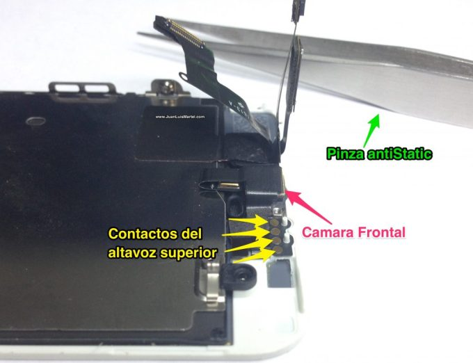 Reparación de speaker superior o receiver de iPhone en Las Palmas