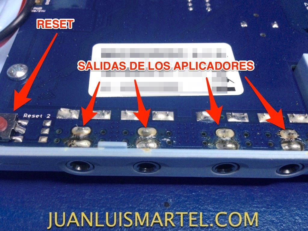 reparación de biomag lumina salida de los aplicadores averiados