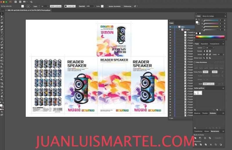 diseño de caja OEM speaker mp3 karaoke Juan Luis Martel