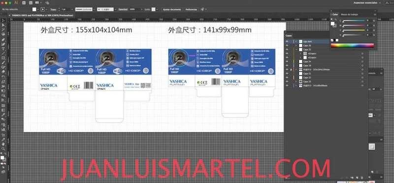 diseño de caja OEM camaras deportivas action Juan Luis Martel