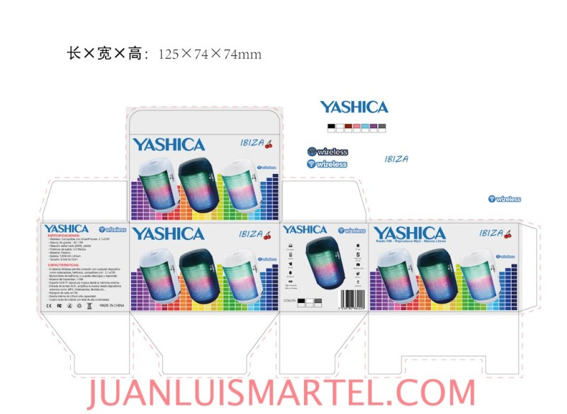diseño de caja OEM speaker mp3 Juan Luis Martel