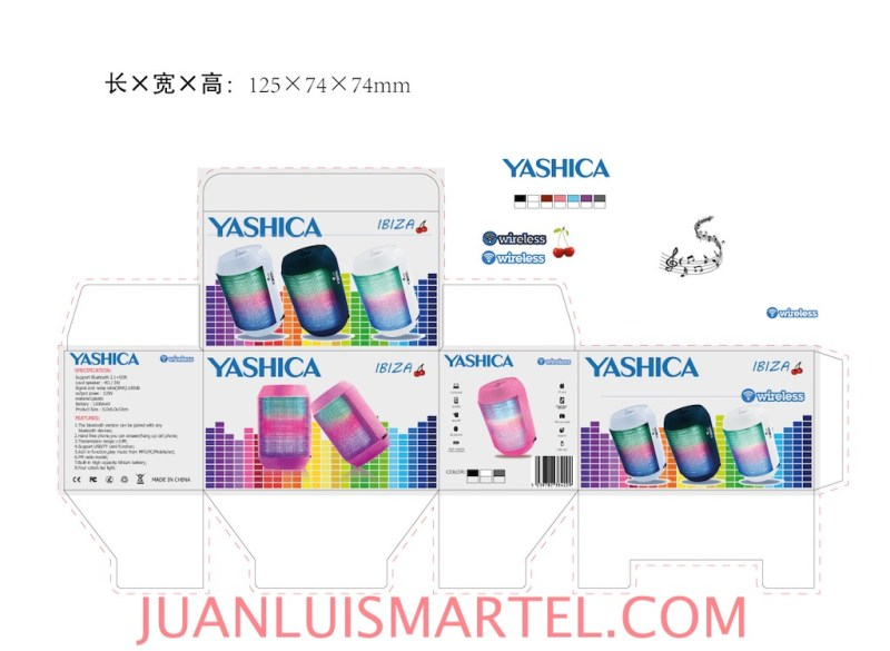 diseño de caja OEM altavoz mp3 Juan Luis Martel