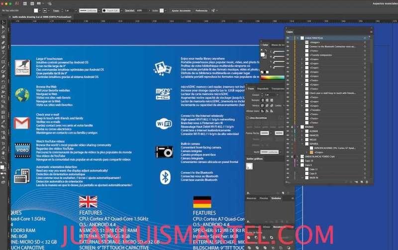 diseño de cajas OEM traduccion caja tablet chino Juan Luis Martel