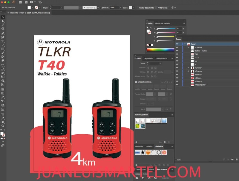 diseño de caja OEM walkie motorola cpo Juan Luis Martel