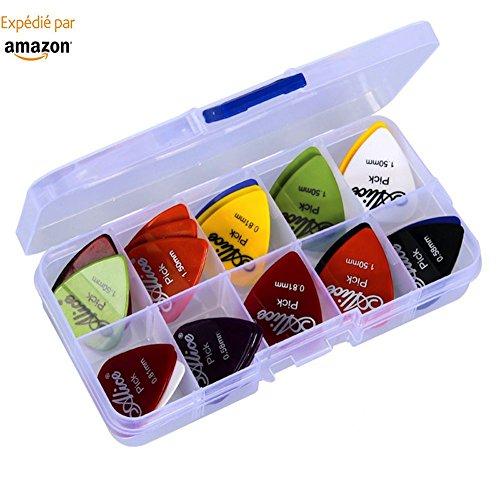 astropick–Caja de 40púas para guitarra eléctrica, acústica, bajo, o Folk–6capas),: 0.58/0.71/0.81/0.96/1.20y 1.50(mm)–para hombre y mujer–Pico, pestaña, Pick, Plectro