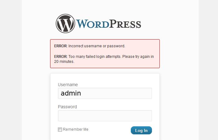 WordPress Limited Login Attempts