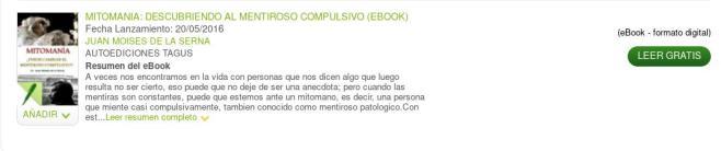 Mitomania - La Casa del Libro - Cátedra Abierta de Psicología y Neurociencias