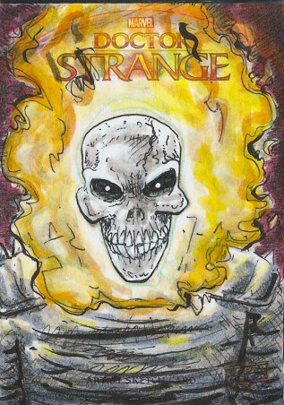 Juan Navarro Upperdeck Dr Strange Cards 040 - Ghost Rider