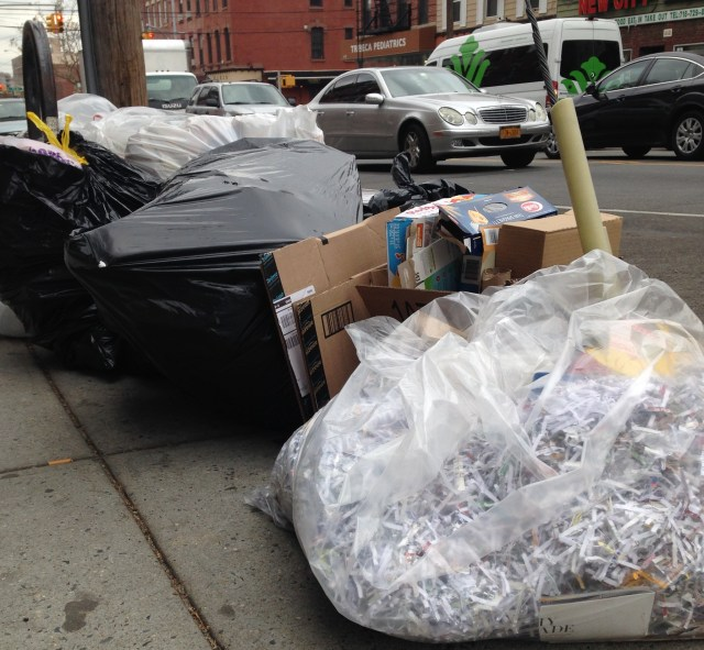 Trash on New York City Curb