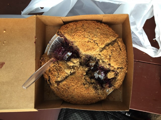 Blueberry Crisp pie from Briermere Farms