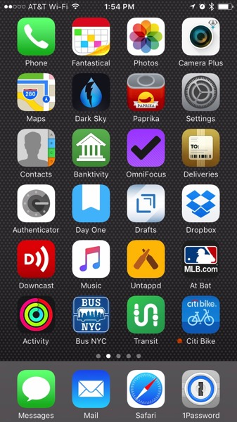 iPhone Home Screen Feb 2017