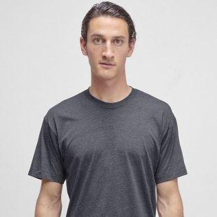 Los Angeles Apparel Tri-Blend T-Shirt in Tri-Black