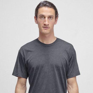 Los Angeles Apparel Tri-Blend T-Shirt in Tri-Black