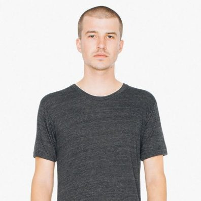 American Apparel Tri-Blend T-Shirt in Tri-Black