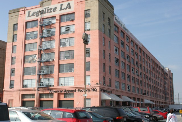 American Apparel Warehouse in Downtown Los Angeles, circa 2012