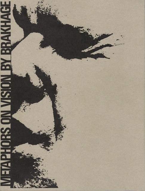 Cover art for the 2017 republication of Metaphors on Vision, by Brakhage
