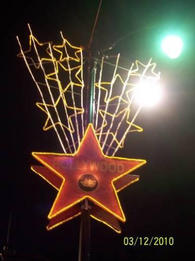 Walk of fame Hollywood di malam hari