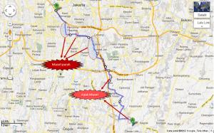 rute motor dari cibubur ke semanggi atau kuningan