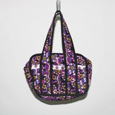 Purple Floral Quilted Bag