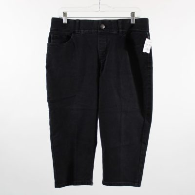 Riders By Lee Mid-Rise Black Capri Pants | Size 10