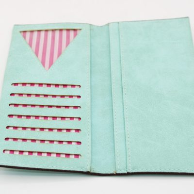 Green Wallet with Pockets