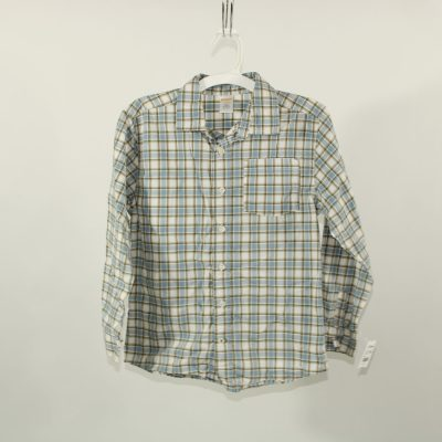 Gymboree Blue Plaid Shirt | Size M (7-8)