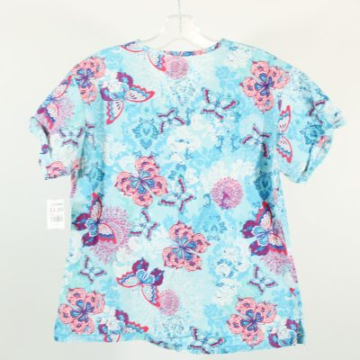 Med Couture Blue Scrub Top | S