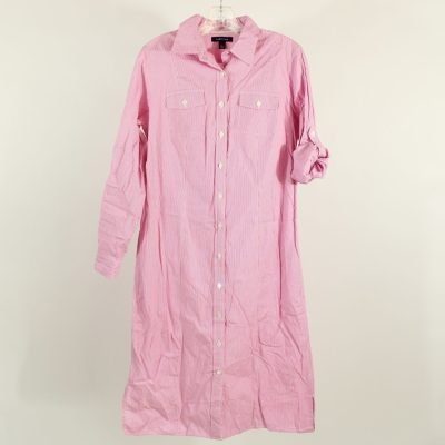 Lands' End Pink Striped Button Down Dress | Size 8