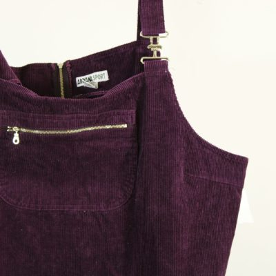 Adriana Sport Burgundy Purple Corduroy Dress | Size 26W