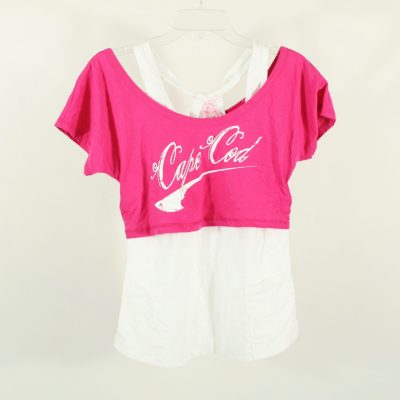 NEW Cape Cod Pink Off-The-Shoulder Layer Top | XL