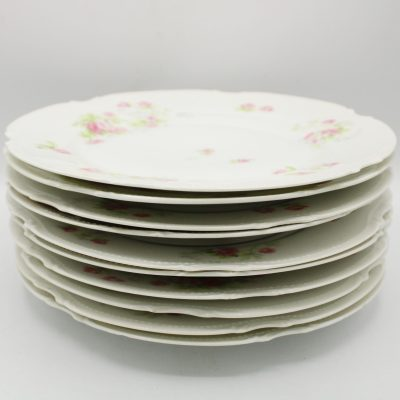 Old Abbey Limoges France China Dinner Plates Set Of 10 | 9 1/2