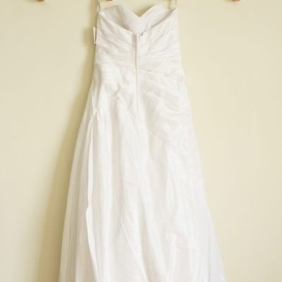 NEW David's Bridal Strapless Wedding Dress | Size 6