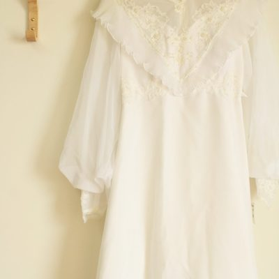 Vintage Beaded Wedding Dress | Size S