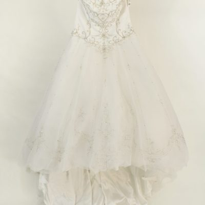 David's Bridal Tulle Wedding Dress | Size 12