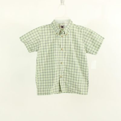 Goodlad Of Philadelphia Green Plaid Shirt | Size 6