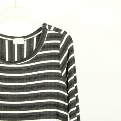Dee Elly Ribbed Striped Shirt | Size L