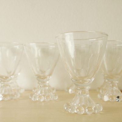 Anchor Hocking Boopie Bubble Pattern Small Cocktail Glasses | Set Of 8