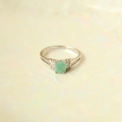 Sterling Silver RJ Blue Stone Ring | Size 9